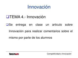 Innovaci n