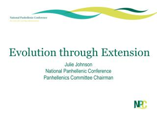 Evolution through Extension