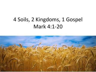 4 Soils, 2 Kingdoms, 1 Gospel Mark 4:1-20