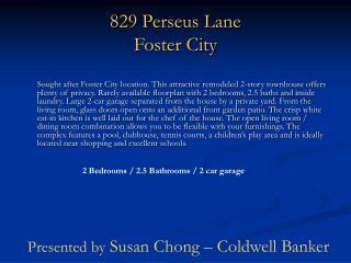829 Perseus Lane Foster City