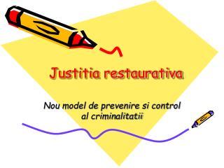 Justitia restaurativa