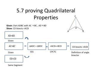 5.7 proving Quadrilateral Properties