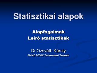 Statisztikai alapok