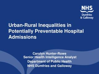 Urban-Rural Inequalities in Potentially Preventable Hospital Admissions