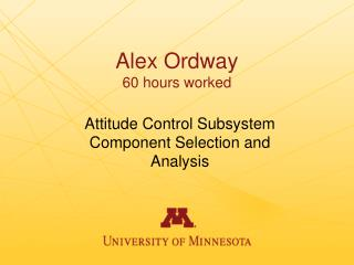 Alex Ordway 60 hours worked