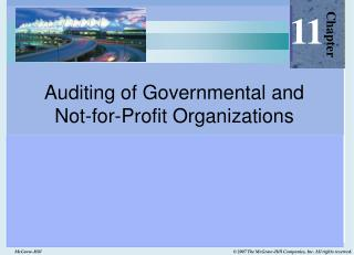 Auditing of Governmental and  Not-for-Profit Organizations