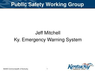 Public Safety Working Group