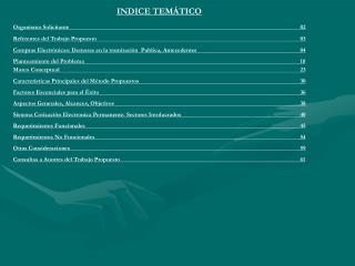 INDICE TEM�TICO