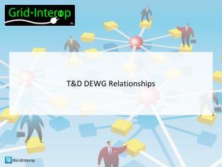T&D DEWG Relationships