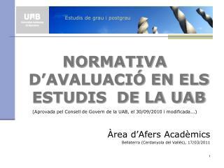 Estudis de grau i postgrau