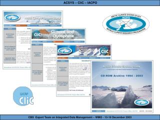 CBS  Expert Team on Integrated Data Management – WMO - 15-18 December 2003