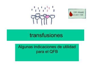 transfusiones