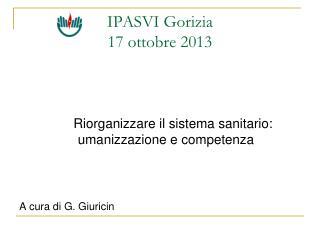 IPASVI Gorizia 17 ottobre 2013