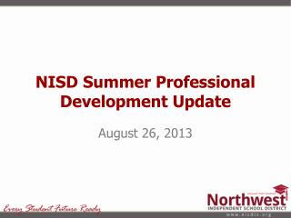 NISD Summer Professional Development Update