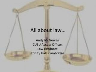 All about law…