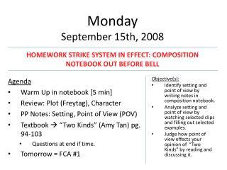 Monday September 15th, 2008