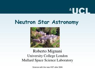 Neutron Star Astronomy