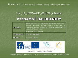 VY_52_INOVACE_02/1/28_Chemie