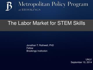 The Labor Market for STEM Skills