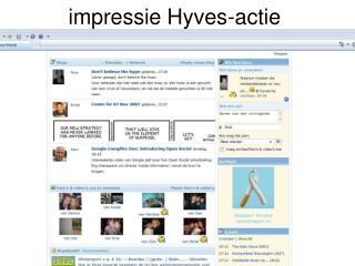 impressie Hyves-actie