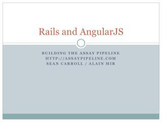 Rails and AngularJS