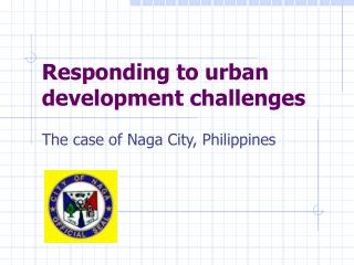 Responding to urban  development challenges