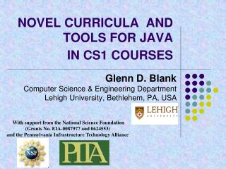 NOVEL CURRICULA  AND TOOLS FOR JAVA  IN CS1 COURSES