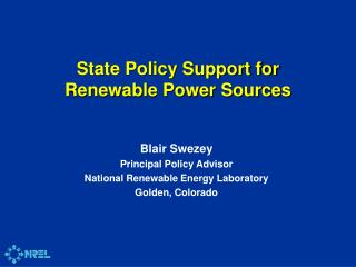 State Policy Support for Renewable Power Sources