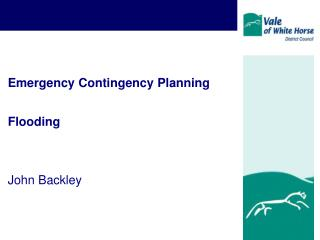 Emergency Contingency Planning Flooding John Backley
