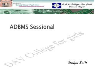 ADBMS  Sessional
