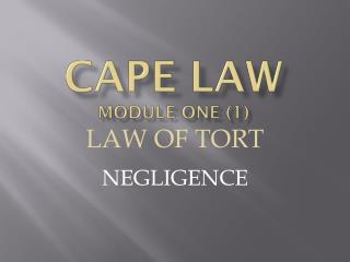 CAPE LAW MODULE ONE (1)