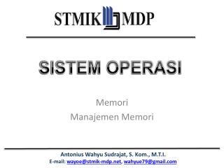 Memori Manajemen Memori