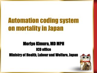 Automation coding system on mortality in Japan