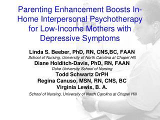 Linda S. Beeber, PhD, RN, CNS,BC, FAAN