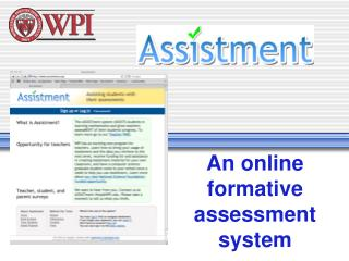 An online formative  assessment system