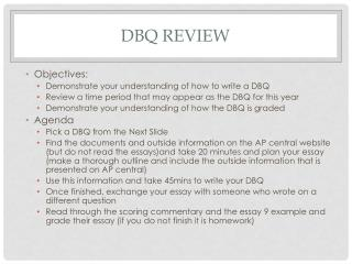 DBQ Review