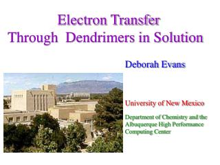 Electron Transfer  Through  Dendrimers in Solution