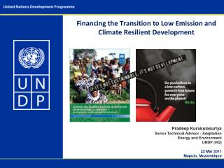 Financing the Transition to Low Emission and Climate Resilient Development