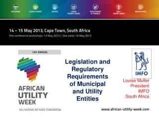 Louise Muller President IMFO South Africa