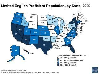 Limited English Proficient Population, by State,  2009