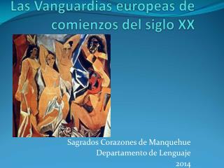 Sagrados Corazones de Manquehue Departamento de Lenguaje 2014