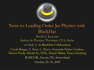 Next-to-Leading Order Jet Physics with BlackHat