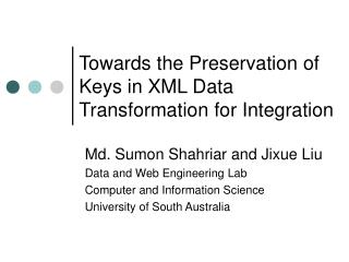Towards the Preservation of Keys in XML Data Transformation for Integration