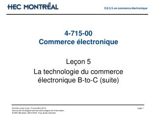 4-715-00 Commerce �lectronique