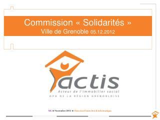 Commission «Solidarités»  Ville de Grenoble  05.12.2012