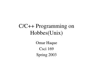 C/C++ Programming on Hobbes(Unix)