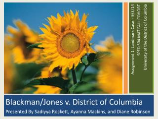 Blackman/Jones v. District of Columbia