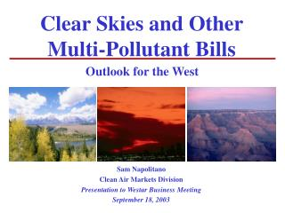 Clear Skies and Other Multi-Pollutant Bills