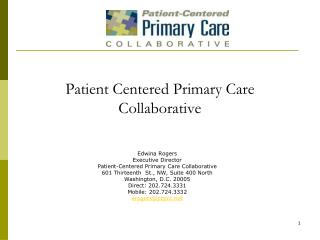 Patient Centered Primary Care Collaborative