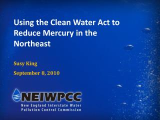 Using the Clean Water Act to Reduce Mercury in the Northeast Susy King September 8, 2010